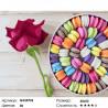 Количество цветов и сложность Макарони и роза Раскраска картина по номерам на холсте GX24723