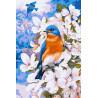 Весенние птицы Раскраска по номерам на холсте Molly KH0260