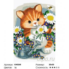 Количество цветов и сложность Маленький садовник Раскраска по номерам на холсте Molly KH0268