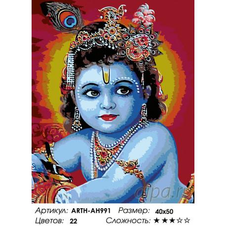 Количество цветов и сложность Восточная богиня Раскраска по номерам на холсте Живопись по номерам ARTH-AH991