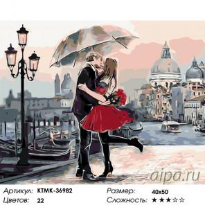 Количество цветов и сложность Встреча с любимой Раскраска по номерам на холсте Живопись по номерам KTMK-36982