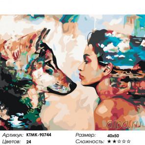 Количество цветов и сложность Единство взгляда Раскраска по номерам на холсте Живопись по номерам KTMK-90744
