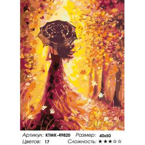 Количество цветов и сложность Волшебница осень Раскраска по номерам на холсте Живопись по номерам KTMK-49820