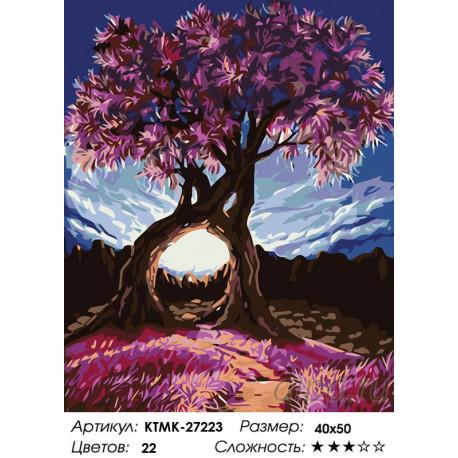 KTMK-27223 Дерево влюбленных Раскраска по номерам на ...