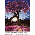 Количество цветов и сложность Дерево влюбленных Раскраска по номерам на холсте Живопись по номерам KTMK-27223