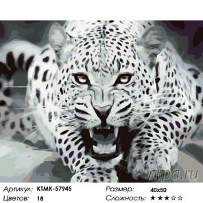 Раскладка Угроза леопарда Раскраска по номерам на холсте Живопись по номерам KTMK-57945