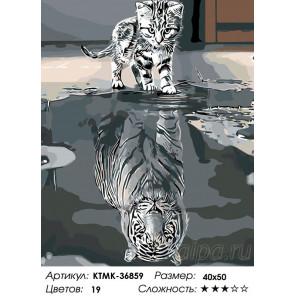 Количество цветов и сложность Отражение характера Раскраска по номерам на холсте Живопись по номерам KTMK-36859