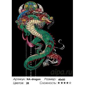 Количество цветов и сложность Символ мудрости Раскраска по номерам на холсте Живопись по номерам NA-dragon