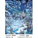 Зимний храм Раскраска по номерам на холсте Живопись по номерам