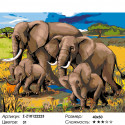 Количество цветов и сложность Семья слонов Раскраска по номерам на холсте Живопись по номерам Z-Z10122223