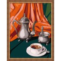 Кофейный натюрморт 30х40 Раскраска по номерам акриловыми красками на холсте Hobbart