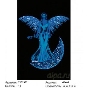 Количество цветов и сложность Лунный ангел Раскраска по номерам на холсте Живопись по номерам Z101383