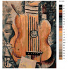 Раскладка Абстрактная гитара Раскраска по номерам на холсте Живопись по номерам Z-Z101978