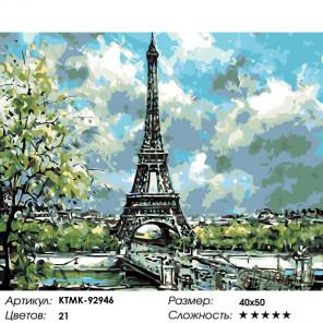 Количество цветов и сложность Лето в Париже Раскраска по номерам на холсте Живопись по номерам KTMK-92946