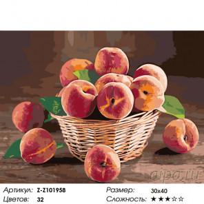 Количество цветов и сложность Аромат спелых персиков Раскраска по номерам на холсте Живопись по номерам Z-Z101958
