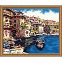 Портофино Раскраска по номерам акриловыми красками на холсте Hobbart