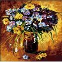 Полевые цветы 40х40 Раскраска по номерам акриловыми красками на холсте Hobbart