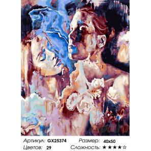 Количество цветов и сложность Чувственность Раскраска картина по номерам на холсте GX25374