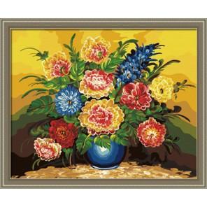 Букет в синей вазе Раскраска по номерам на холсте Hobbart