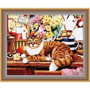 Кот ученый Раскраска по номерам акриловыми красками на холсте Hobbart