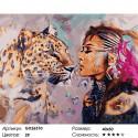 Количество цветов и сложность Дух гепарда Раскраска картина по номерам на холсте GX26510