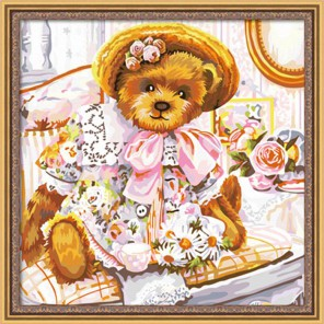 Мишки Тедди Нарядная 40х40 Раскраска по номерам акриловыми красками на холсте Hobbart
