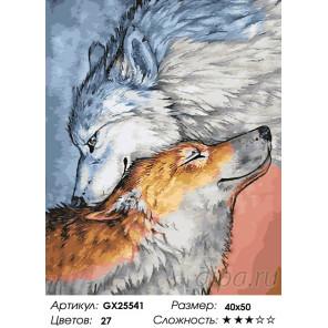 Количество цветов и сложность Волчья ласка Раскраска картина по номерам на холсте GX25541