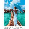 Количество цветов и сложность Следуй за мной. Мальдивы Раскраска картина по номерам на холсте GX24483