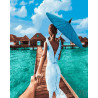 Следуй за мной. Мальдивы Раскраска картина по номерам на холсте GX24483