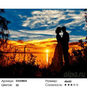 Количество цветов и сложность Влюбленные на озере Раскраска картина по номерам на холсте GX23833