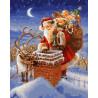 Санта с подарками Раскраска картина по номерам на холсте GX26519