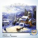 Количество цветов и сложность В заснеженный замок Раскраска картина по номерам на холсте HB4050357-LITE