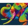 Радужный слоненок Раскраска картина по номерам на холсте GX26196