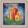 В рамке Новогодние свечи Алмазная вышивка мозаика АЖ-3014