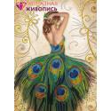Волшебное платье Алмазная вышивка мозаика