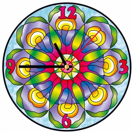 Хрустальные ирисы Набор для создания витражных часов Color Kit
