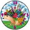 Цветочный еж Набор для создания витражных часов Color Kit