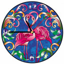 Фламинго на закате Набор для создания витражных часов Color Kit
