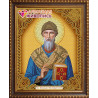 В рамке Икона Спиридон Тримифунтский Алмазная вышивка мозаика АЖ-5057