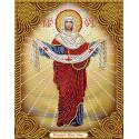 Икона Покров Пресвятой Богородицы Алмазная вышивка мозаика АЖ-5021