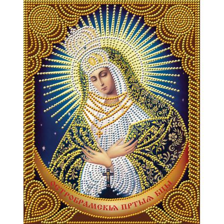 Икона Остробрамская Богородица Алмазная вышивка мозаика АЖ-5023