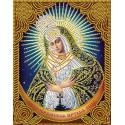 Икона Остробрамская Богородица Алмазная вышивка мозаика