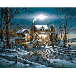 Рождество на пороге Раскраска картина по номерам на холсте GX26665