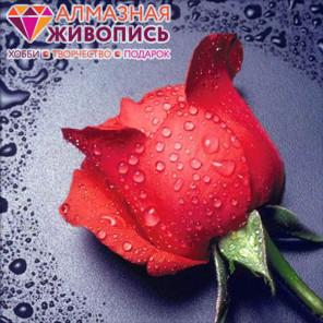 Красная роза Алмазная вышивка мозаика АЖ-0014