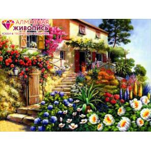 Дом в цветах Алмазная вышивка мозаика АЖ-0294