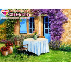 В рамке Уютный дворик Алмазная вышивка мозаика АЖ-1339