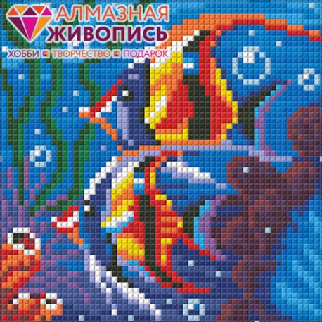 Обитатели рифа Алмазная вышивка мозаика АЖ-1364
