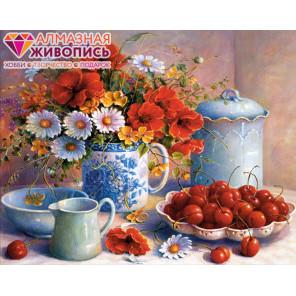 Вишневое утро Алмазная вышивка мозаика АЖ-1373