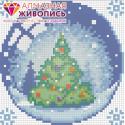 Новогодний шарик с елкой Алмазная вышивка мозаика