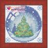 В рамке Новогодний шарик с елкой Алмазная вышивка мозаика АЖ-1255